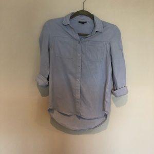 TOPSHOP Blue Oxford Shirt